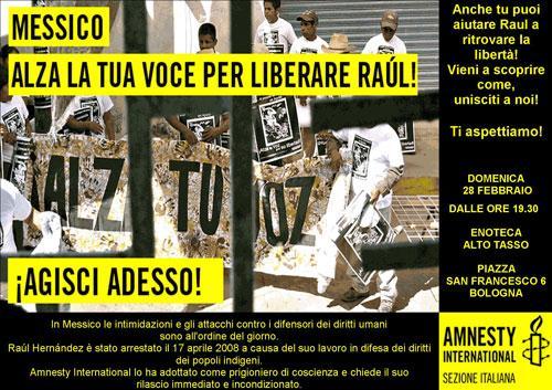 Alza la tua voce per liberare Raul