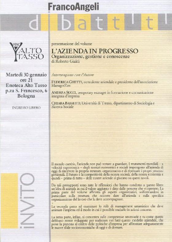 Roberto Gialdi - L'Azienda in Progresso